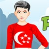 Peppy Patriotic Singapore Girl A Free Dress-Up Game