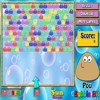 Amuse yourself with this classic bubble game. Help your virtual pet to make groups of three or more Pous of the same color in order to destroy them and gain points.
