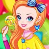 Rainbow Girl with Lollipop A Free Dress-Up Game