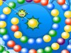 Lucky Balls is a colorful Puzzle Game. The aim is to eliminate all the colorful balls rolling down the spiral tube, before they reach the skull. You can eliminate them by shooting a ball from the center and group 3 or more balls of the same color. The degree of difficulty rises as you proceed further.