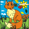 Coloring Fox A Free Puzzles Game
