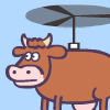 Super Cow Copter A Free Shooting Game