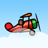 Red biplane A Free Action Game