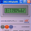 DiGi iNVaDeRS is a remake/semi-clone of an old Casio calculator, the MG-880.  In it`s time the game itself was a take on Space Invaders, just done on a calculator.