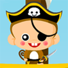 The hunt for Monkey Treasures. A cute game of collecting treasures in the sea. Featuring treasure lovin` monkeys and also pesky pirates. Arrgghh...  Use your treasure grabbing skills to collect gold coins, treasure chests, jewels, pearls, and more.  Hurry and collect all of the treasures before Pirates attack!  10 Levels with various backgrounds. Have fun in day time, sun down, or night time treasure collecting.