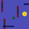 Use arrow keys to move. Collect Goals to advance to the next level.   In normal mode, avoid vertical and horizontal moving lines.  In extreme mode, diagonally rebounding balls are added.  In bonus mode, collect Goals to increase your life, which you must prevent from becoming zero. In this mode, points are determined by how long you survive. Score enough points in normal or extreme mode to unlock this mode.