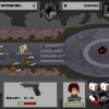 A mix between shooting game and defense game. The player plays the role of a shooter, who has to protect a man. The man is trapped inside an abandoned city, and is getting cornered by zombies.   Player can choose from a range of real-world guns. Player can set obstacles to block the zombies.