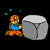 A puzzle game in which you explore a vast cave in order to collect a variety of treasures and items. The different items will give you special abilities or bonuses but you have to hurry , time is limited.