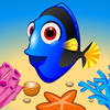 A puzzle game about jumping fish. The goal is to clear the board of fish