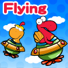 DinoKids - Flying is simple and fun mini game. With a cute dinosaur character you can fly long distance with avoiding lots of obstacles.