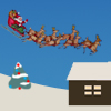 Guide Santa`s sleigh and reindeer to a safe landing atop houses as Santa delivers presents this Christmas.  Avoid obstructions, try not to spill presents, and be sure to feed the reindeer plenty of candy canes.