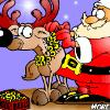 Color Santa and his close friend Rudolph. Choose from many different colors.