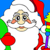 Santa Claus is out for his gift tour! Color him anyhow you`d like then save your picture and send it with your Christmas greetings to your friends! Or print the picture and color it anyhow you desire!