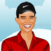 Dressup Tiger Woods in various sporty outfits, casual wear or a chic look. When you're done simply print your result.
