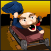 Joe`s Minor Adventure is a highscore driven action packet arcade game. You control Joe riding on a mining cart. The game constantly scrolls downwards and you need to dodge different obstacles that are on the tracks. There are different type of obstacles and which you can jump over to avoid them. You will also be faced with incoming trains which require you to change tracks to avoid them.  You can also alternatively use one of the three abilities you have in your disposal. Smash through everything or just ghost through them and even slow down time to make it to that track turning point to avoid incoming trains.  While doing all that don`t forget to look for gold bags lying on the tracks. Collect them for extra score. When you do crash you can submit your score to a highscore table.