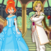 Dressup Winx Club fariy Bloom and her love Specialist Sky.