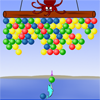 Help the dolphin clear all the balls before the octopus reach the island. You can clear the balls by shooting them into groups of 3 or more of the same color. Any balls that are hanging on to what you cleared will also fall.