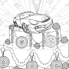 """Kid`s coloring: """"Cake for racers"""" is free coloring game for kids."""