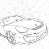 Kid`s coloring: Beautiful car is free coloring game.