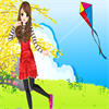 Flying Kite Girl