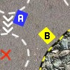 Challenge your buddy in this simple to control top down racer with three different tracks.