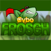 Cybo Frosch is a german version of a popular game Cybo Frog!  Your task is to jump with your cybo frog from one floating leaf to another. Use your mouse to set up strength and trajectory and press left mouse button to jump. If you don`t reach next leaf you will lose one life. Can you finish all levels without losing a life?