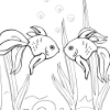 Kid`s coloring: Goldfish is free fun coloring game for You.