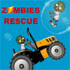 Zombies Rescue others from White Huge Bears with action truck cars