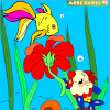Kid`s coloring: Cute little fish is free coloring game.
