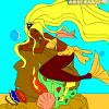 Kid's coloring: The mermaid