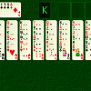 Big Bertha is an large scale two pack solitaire game with a lot of strategy.  The aim is to build from ace to queen on the eight foundations.  Cards are stacked and moved by alternating colours, and available kings can be removed from the game at any time.