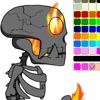 TAOFEWA - Fire Skeleton Animation Coloring Game