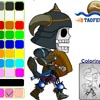 TAOFEWA - Skeletal Warrior Chibi - Coloring Game (walk01)