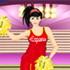 Spain Cheerleader A Free Dress-Up Game