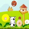 Use Left and Right Keys to Control Little Cow and Avoid Bomb Attack From Pirate Cow. Take the Bubble to be Unbeatable in a Short Period of Time.