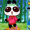 Very cute panda dress up game. :) play with mouse