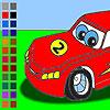 Racing car coloring