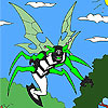 Fly alien coloring - painting game.