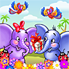 Help Jolly and Pad gather some flowers for their birthday party.
