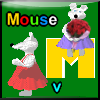 Physic based game. Throw the bunch of flowers to blue dressed mouse. (+ 5 minigames).