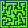 Watch how the maze is created and then try to solve it.  You decide how difficult you want it by writing the parameters.