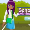 School Girl Coloring Dress Up