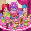 Design your delicious cake and decor the cake dinner party  with all the delicious fruits,cakes,icecreams,drinks.You could Scroll the mouse to zoom fruits,icecreams and drinks.Very sweet and fun!