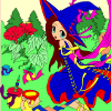 Beautiful forest fairy love to paint nature and flowers. Help her pick the most beautiful colors.