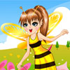 dress-up the busy bee with some lovely outfits