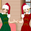 Christmas with bff A Free Dress-Up Game