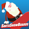 Santa Snowboards A Free Action Game