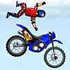 15 levels of freestyle motocross! You have a team of 3 unique bikers, each biker can perform different stunts and is able to learn new stunts. Try to unlock all the stunts and score maximum points!