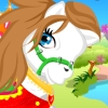 Every girl wants to have a little cute pony. In this game you can have one for playing. Let your imagination to create a unique style for your cute pony. Have fun while you playing with the pony.