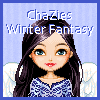 Drag and drop the hair and clothing in ChaZie`s Winter Fantasy Dressup Game